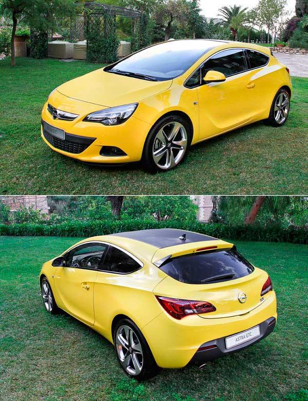 Opel Astra GTC на фото