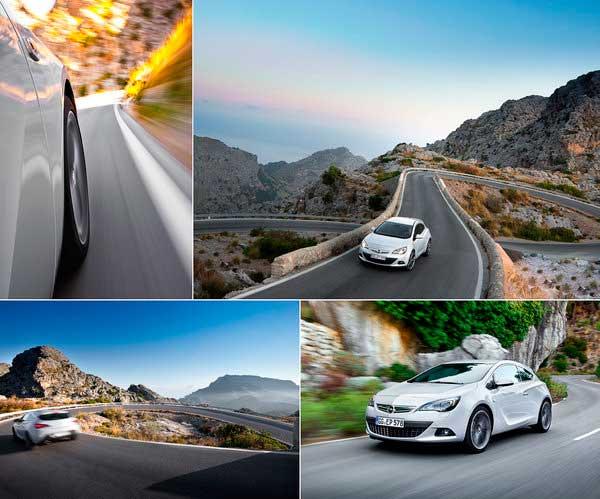 Opel Astra GTC отличное фото с дороги