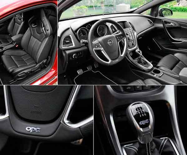 На фото салон Opel Astra GTC ОРС