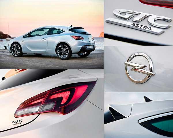 Задняя часть Opel Astra GTC в деталях