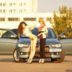 Девушки на красивых авто девушки