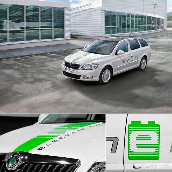 octavia green e line и skoda octavia green e line